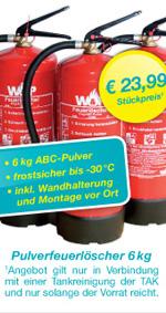 TAK Öltankreinigung - Feuerlöscher Angebot